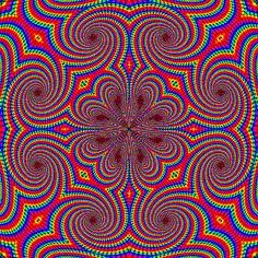 Trippy Psychedelic GIFS – Gallery – color of life Op Art, Cool Illusions, Optical Illusions, Art Fractal, Trippy Gif, Illusion Art, Hippie Art, Psychedelic Art, Psychedelic Pattern