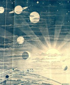 Solar System Planets Print Astronomy Wall by VintageInclination, $39.50