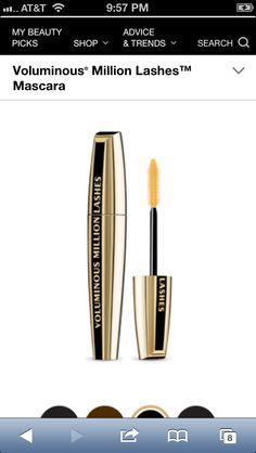 must have #mascara @Loreal is on their game with Voluminous Million Lash