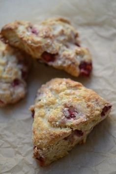 Strawberry Buttermilk Scones.
