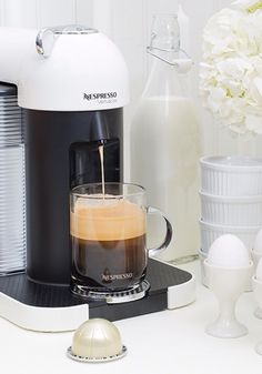 Enjoying a hand-crafted cup of gourmet coffee just got easier thanks to the VertuoLine machine. With just the touch of a button, you can enjoy a steaming cup of your favorite Nespresso Grand Cru at any time of the day. Click here to order yours.