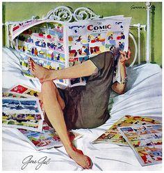 Unknow title. John Gannam (1907-1965) American illustrator.