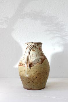 Vintage Handmade Large Ceramic Pitcher #wildpoppygoods