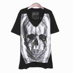 [G228]フィリップ・プレイン/PHILIPP PLEIN/HM341369 02/メンズ/Vネック/Tシャツ/半袖/ブラック