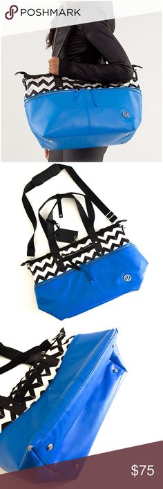 """Lululemon Gym Bag ▫️Material:Polyurethane, Nylon  ▫️Water-resistant  ▫️Organization:Interior mesh pocketing system External zippered pocket Exterior pockets  ▫️Easy-access phone pocket  ▫️Clean Interior and Exterior ▫️Dimension: 14"""" high x 8.5"""" deep x 16"""" wide  ▫️Defects: Corner Scuffs, Approx 1 inch of zipper isn't attached to the fabricanymore but can be easy fixed by sewing it together, scuffs throughout bag (see pictures), scratching on metal plates ▫️Overall in Good Used Condition 🚫No…"""