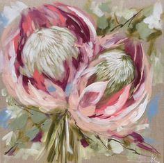 King protea - art print - Art by Brooks Protea Art, Protea Flower, Protea Bouquet, Protea Wedding, Wedding Bouquets, Protea Centerpiece, Acrylic Painting Inspiration, Decoupage Printables, King Protea