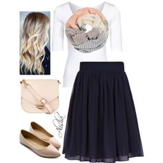 A fashion look from October 2014 featuring Filippa K t-shirts, Reiss skirts and Ollio flats. Browse and shop related looks.