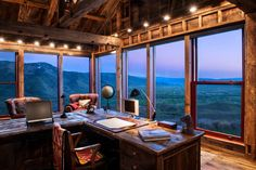 Modern Barn, Modern Rustic, Bergen, Wyoming, Office With A View, Office Images, Luxury Office, Ceo Office, Rustic Barn