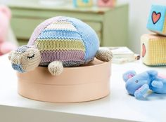 This sleepy tortoise has fast become a favourite in the LK office. The beautiful calming colours and tactile stitch pattern means Gillian will be loved by babies everywhere. Of course, you could use any shades you like - how about…
