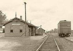 CANNINGTON , Ontario - Railway station 1966 James Brown p