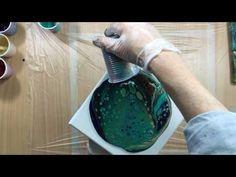 (13) ( 180 ) acrylic pouring dark colours 20 cm x 20 cm - YouTube