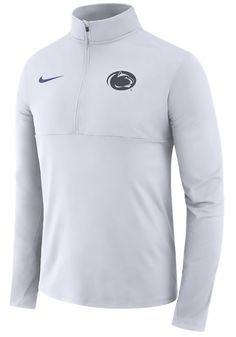 52d1a56928 Nike Penn State Nittany Lions Mens White Core Long Sleeve 1/4 Zip Pullover