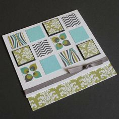 Scrapbooking cards with square punch #scrapbooking #cards