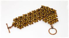 TheHeartBeading: Small Floral Bracelet #Seed #Bead #Tutorials