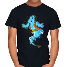 WISH MASTER T-Shirt - Aladdin/Ghostbusters T-Shirt is $14 today at Ript! Ghostbusters, Aladdin, Wish, Disney, Mens Tops, T Shirt, Fashion, Supreme T Shirt, Moda