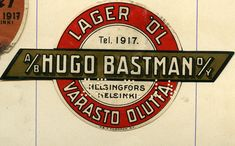 #Oluetiketti #Varasto olutta #Helsinki #Lager #Öl #Etikett #Beer #Label #Sinebrychoff