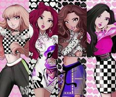 Hit ya with the - not my best one to be honest :) but i am happy it's done anyway, now on to the next one. Girls Dp, Kpop Girls, K Pop, Chibi, Character Art, Character Design, Divas, Blackpink Memes, Kpop Drawings