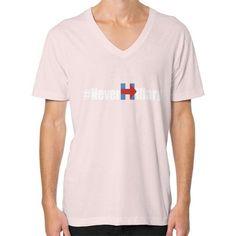 Never Hillary V-Neck (on man) Shirt