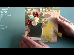 Mini Book/card created for bday gift for Candi - YouTube