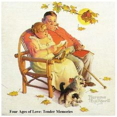 Four Ages of Love: Tender Memories by Norman Rockwell