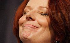 Australian Prime Minister Julia Gillard being... well, Julia. Photo: Stehan Posties, Getty Images