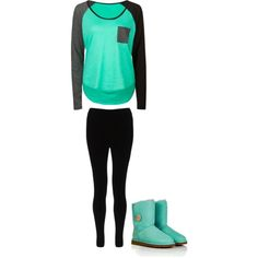 Black and Turquoise, created by maddie-kibbee on Polyvore