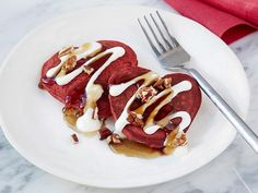 Make these Red Velvet Heart Pancakes for that special someone this Valentine's Day.
