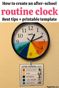 Discover an easy idea that will help you create the best after-school routine for your kids and enjoy an after-school schedule that works for your family!   - How to make an after-school routine clock for kids | After school schedule for kids After School Schedule, Toddler Schedule, Toddler Chores, Toddler Boys, Night Routine, Bedtime Routine, Clock For Kids, Kids Clocks, School Routines