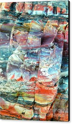 Rock Canvas Print featuring the photograph Geologist's Rainbow by Frank Townsley