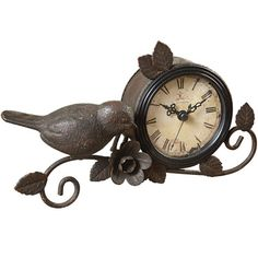 Birdie mantle clock