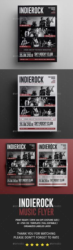 Rock Flyer   Poster \ Ticket Template PSD Download here   - now hiring flyer template