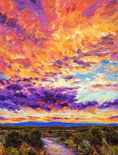 Landscape Art, Landscape Paintings, Watercolor Paintings, Landscapes, Painting Tutorials, Art Tutorials, Sunset Art, Southwest Art, Mountain Art