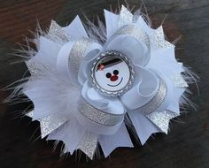 Snowman Inspired 5 Inch Stacked Boutique Bow / Christmas / Winter