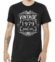Shop our wide selection of high quality Personalize Vintage Birthday Custom Year Original Parts Premium T Shirt . Personalize Vintage Birthday Custom Year Original Parts Premium T Shirt Tons of awesome designs to pick from. Funny T Shirt Sayings, T Shirts With Sayings, Funny Tees, Mom Shirts, T Shirts For Women, 40th Birthday, Vintage Birthday, Birthday Shirts, Birthday Ideas