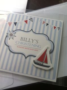 Nautical invitations for christening - eternal design love! Gaia Creative.