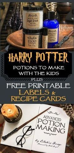 Harry Potter Bath & Body Potion Recipes - Unskinny Boppy Harry Potter themed bath and body gift ideas for Halloween treats, birthday party favors or teacher gifts. Simple DIY recipes to make for your Muggles. Party Harry Potter, Harry Potter Fiesta, Harry Potter Thema, Harry Potter Classroom, Harry Potter Bedroom, Harry Potter Birthday, Harry Potter Movies, Harry Potter Potion Labels, Harry Potter Recipes