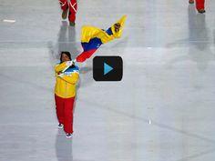 Antonio José Pardo lució la bandera de Venezuela en Sochi 2014 Realmente me siento emocionada :)