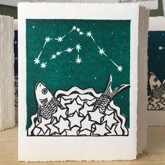 StarGazey Skies - Aquarius Zodiac Birthday Card (January 20 to February 18) £4.00