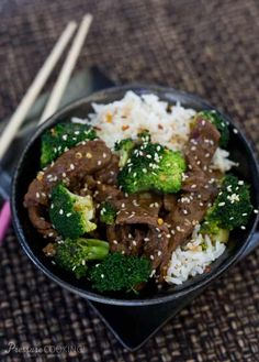 Pressure Cooker Beef and Broccoli - Tender, thin-sliced beef and broccoli in a rich sauce that is salty and sweet with just a little heat from the red pepper flakes.