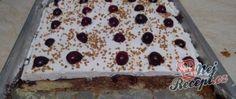 Recept Třešňový koláč s bohatou vrstvou šlehačky Bread, Cake, Food, Hampers, Food Cakes, Eten, Cakes, Tart, Bakeries