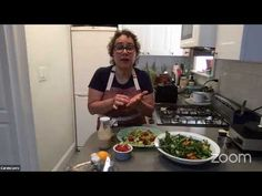 ASIAN KALE SALAD, OIL-FREE PESTO & PEACH BASIL NICE CREAM WITH CHEF CARO...