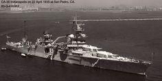 USS Indianapolis (CA-35), San Pedro, CA, 22 April 1935. [1024x517]