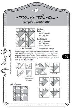 Moda Sampler blocco Shuffle - Block 20