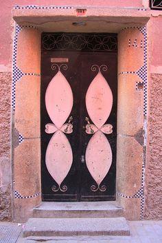 Traditional door in Marrakesh, Morocco by sensaos, via Flickr