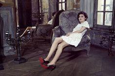 Audrey + patent pumps