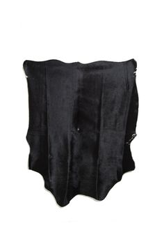 Small Black Cowhide Rug. 49 x 62.