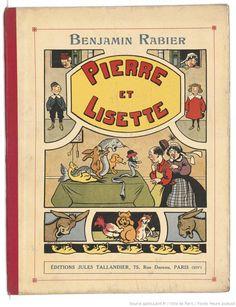 Pierre et Lisette / texte et ill. de Benjamin Rabier,  collections numérisées dans Gallica, Fonds Heure Joyeuse (Paris)