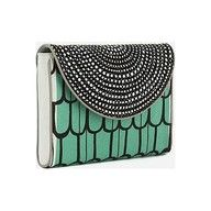 Aqua, rhinestones, geometric patterns-a few of my favorite things, all in one package.