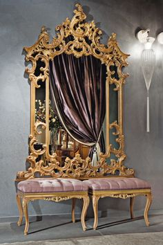 wow! very luxurious mirror and seat