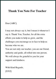 7 Best Thank You Letter To Principal images | Thank you ...